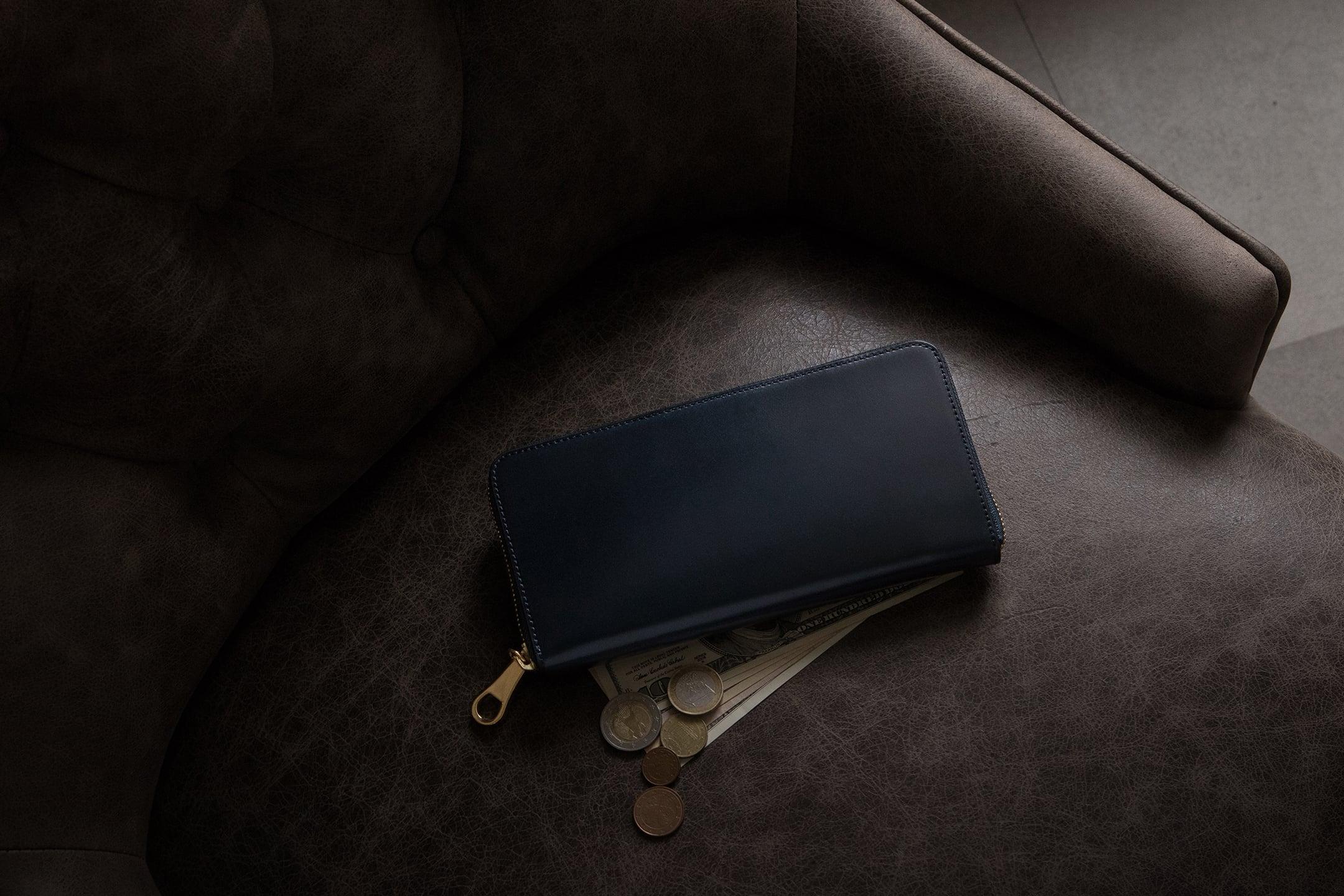 アニリン染めコードバン ラウンドジップ長財布 by CIMABUE(チマブエ)