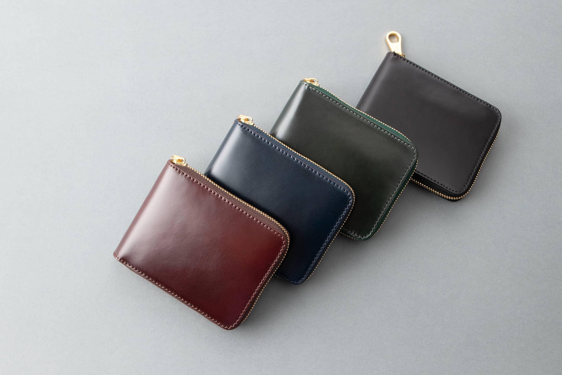 アニリン染めコードバン ラウンドジップ二つ折財布 by CIMABUE(チマブエ)