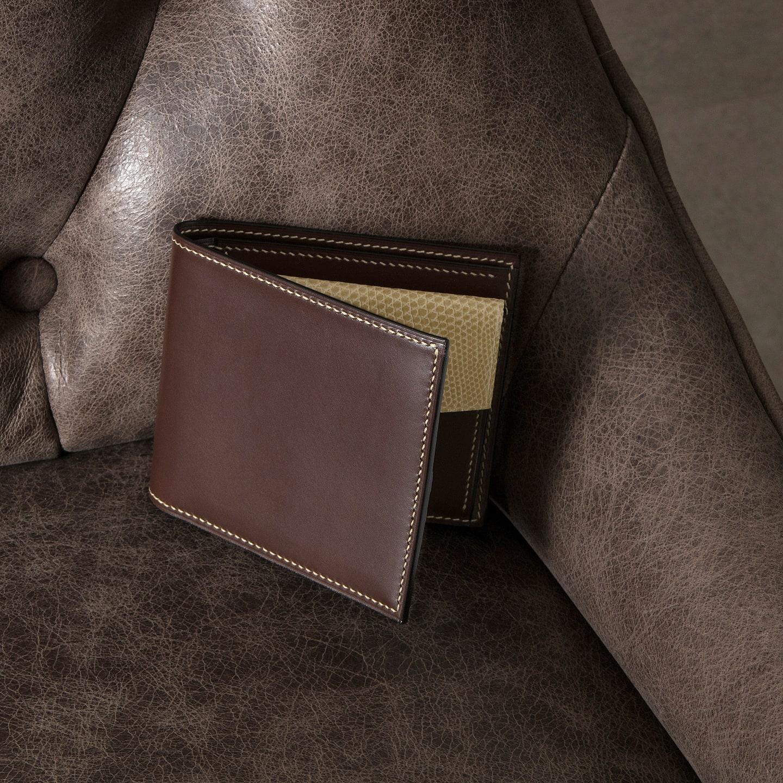 Crevaleathco(クレバレスコ)のブリランテ x リザード 二つ折り財布