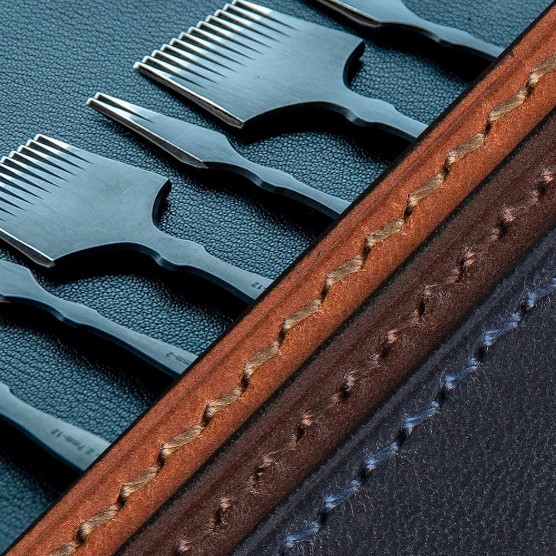 オールハンドステッチ(総手縫い)で仕立てたクレバレスコの二つ折り財布