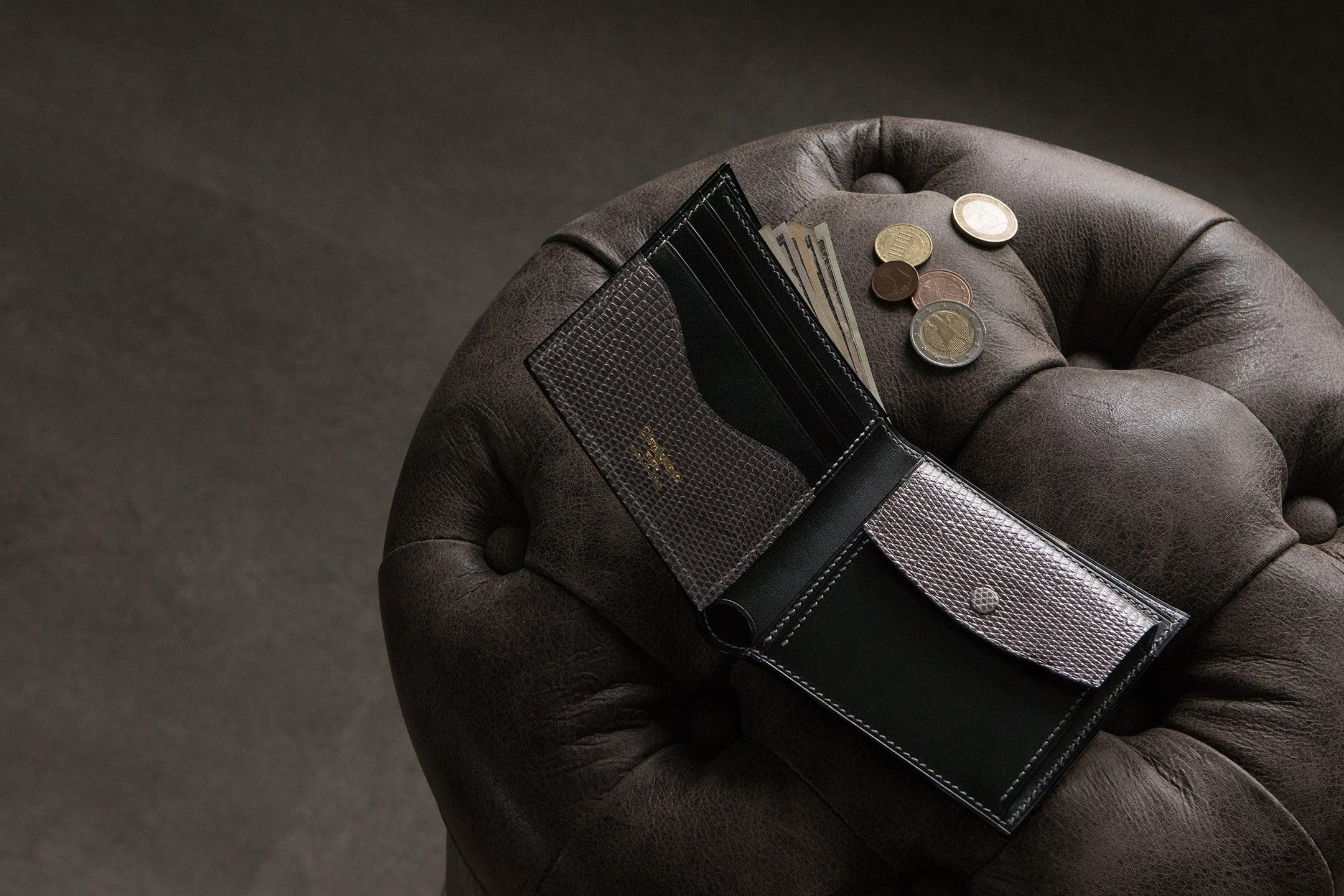 ブリランテ x リザード 二つ折り財布 by Crevaleathco(クレバレスコ)
