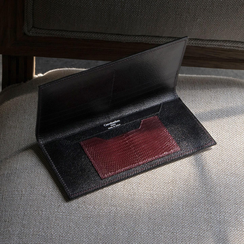 Crevaleathco(クレバレスコ)のリザード 薄型長財布