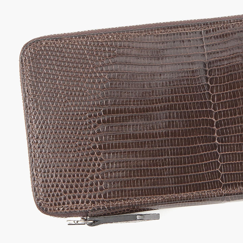 Crevaleathco(クレバレスコ)のリザード ラウンドジップ長財布