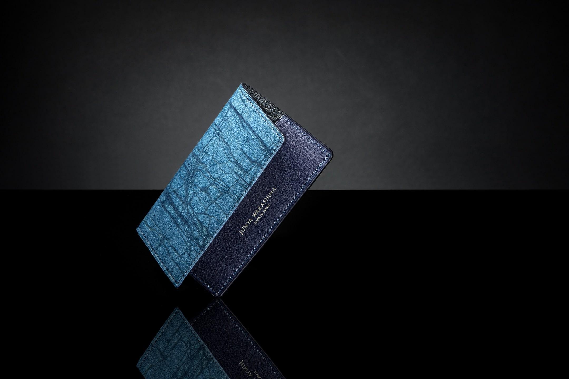スクモレザー ロウ割れ カードケース by JUNYA WARASHINA