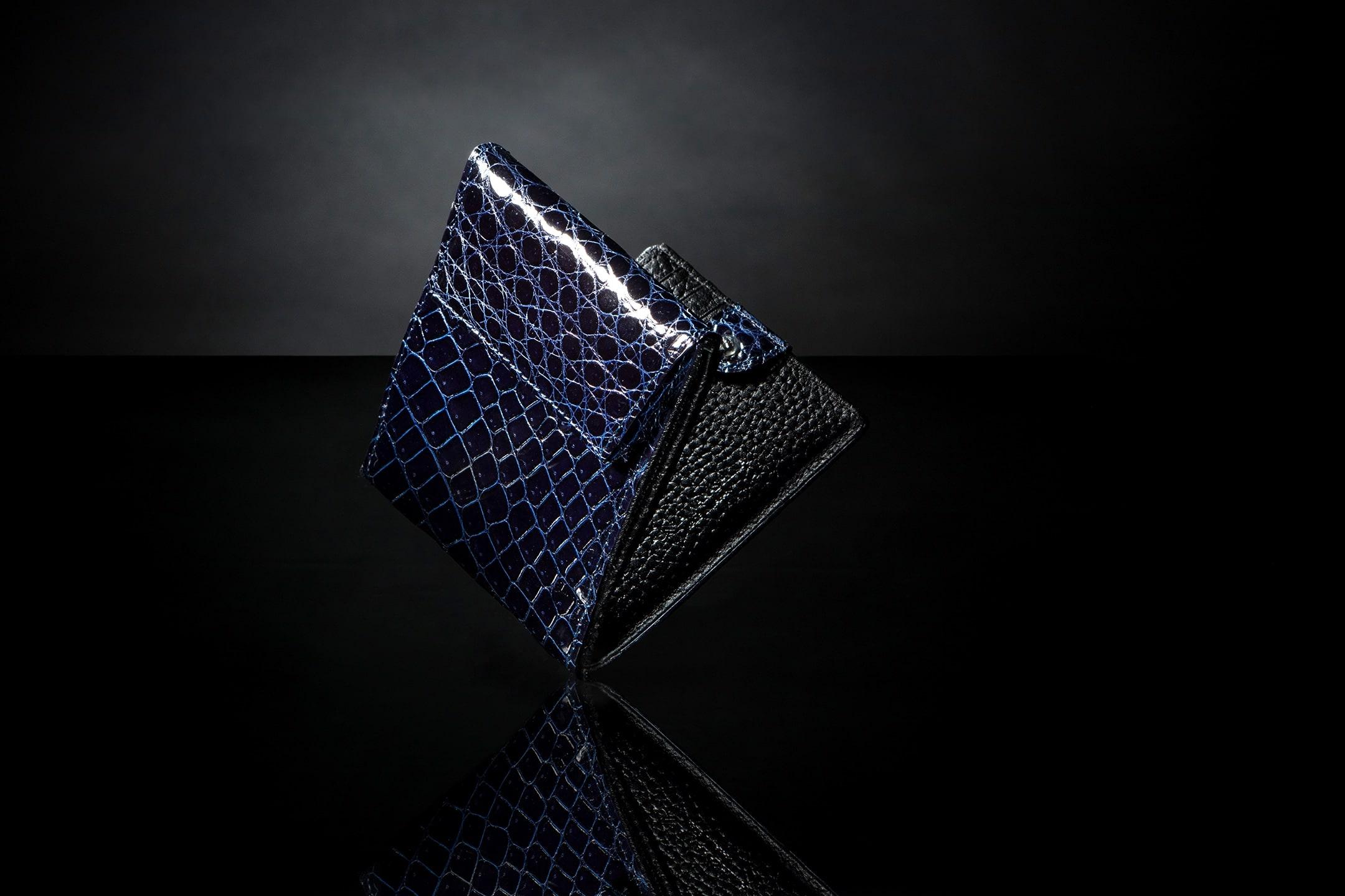 スクモ クロコダイル 二つ折り財布 by JUNYA WARASHINA