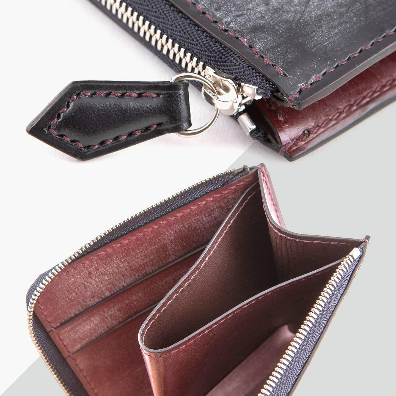 ブライドル L字ジップハーフ財布