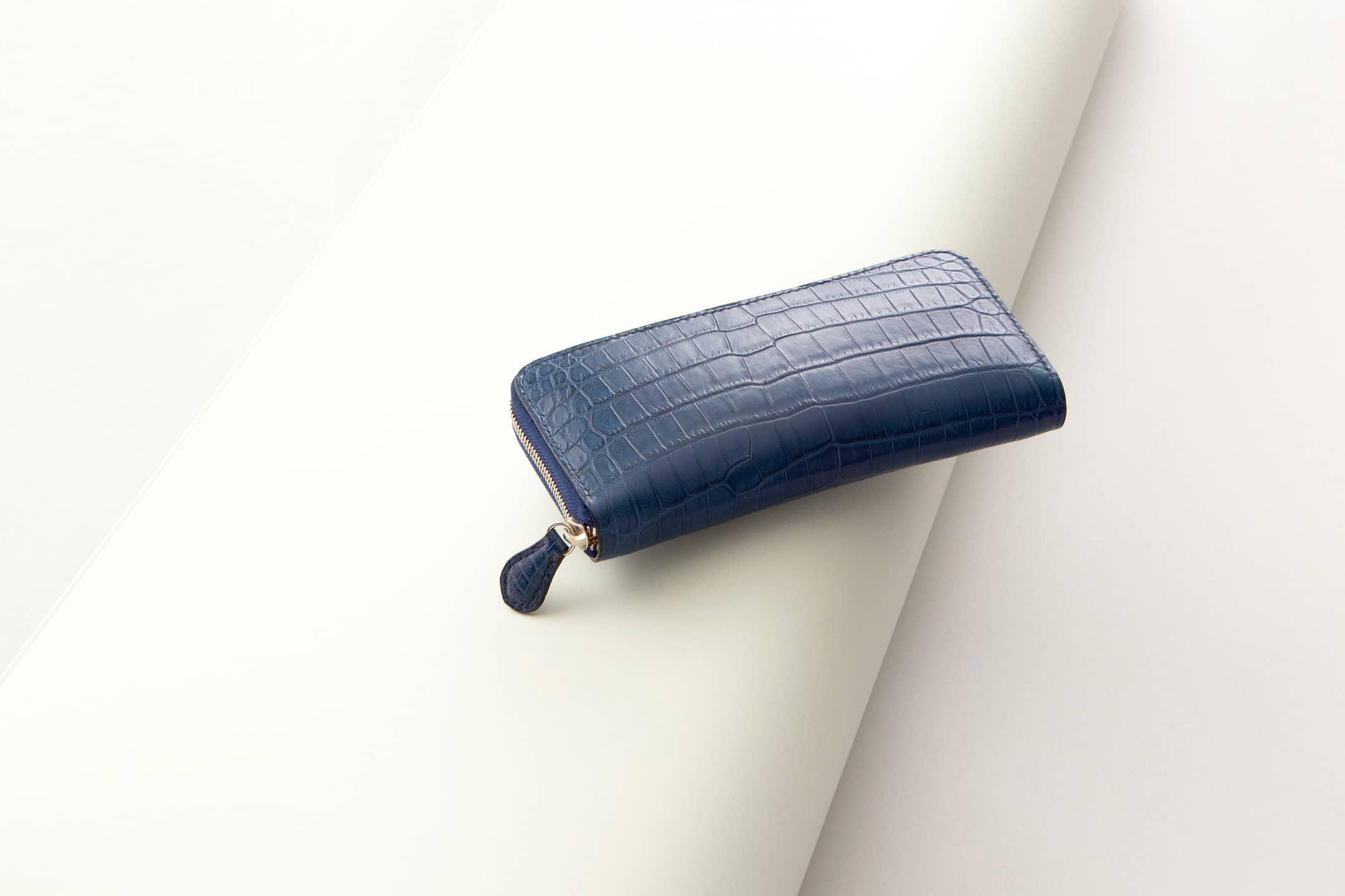 クロコダイル ポロサス & ブッテーロ ラウンドジップ長財布 by ONE WORKER(ワンズワーカー)