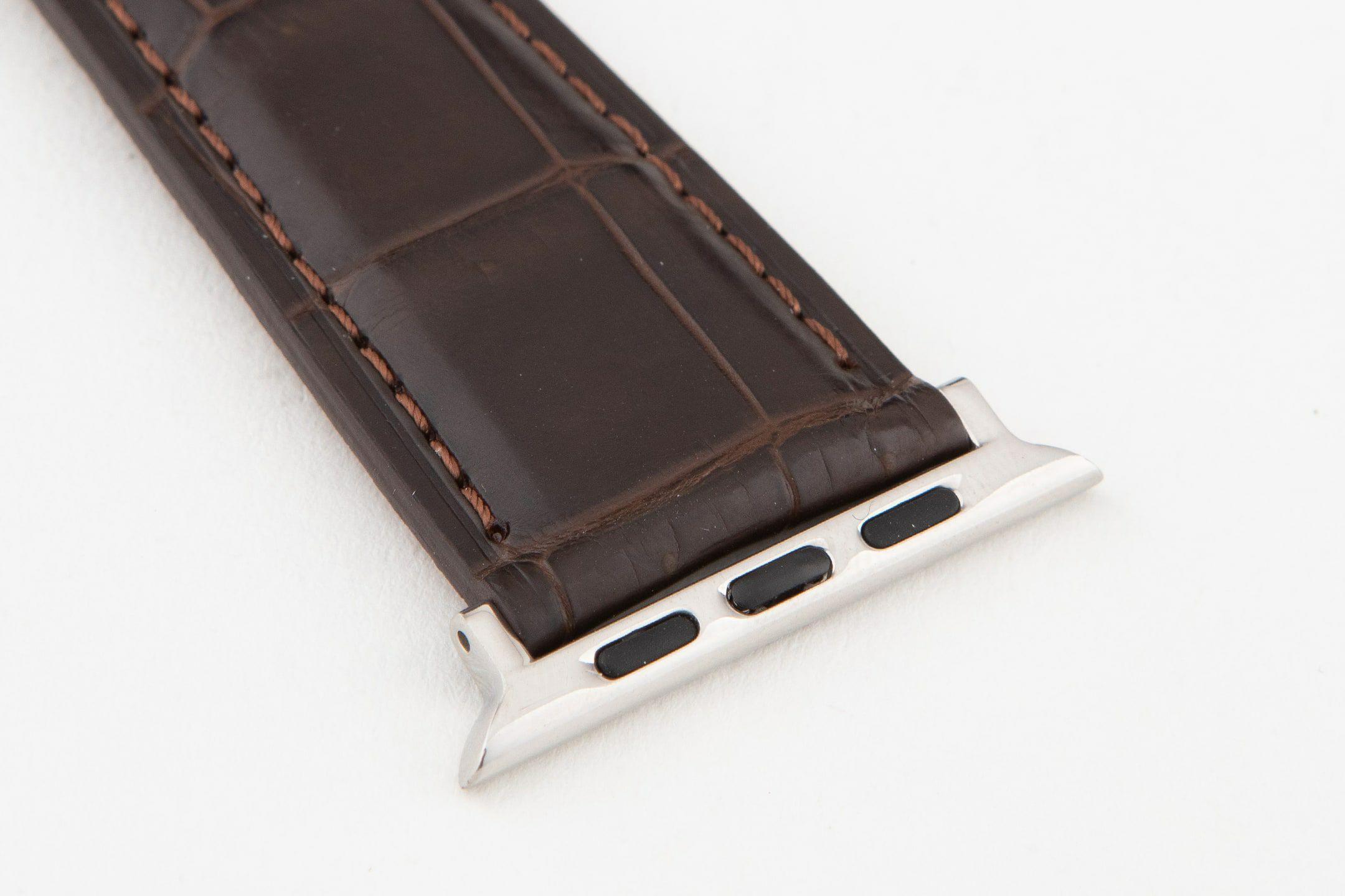 表面:(マット) Dark Brown / エンドピース&尾錠:Silver