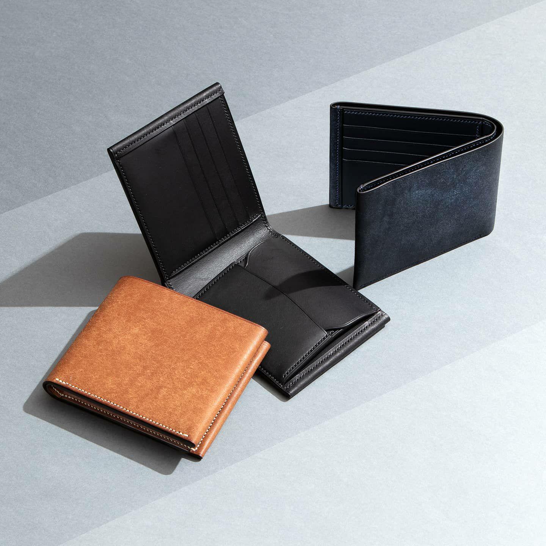プエブロ × リスシオ 二つ折り財布