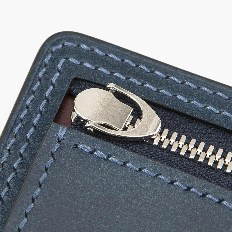 外装(コードバン):Blue / ファスナー:Silver