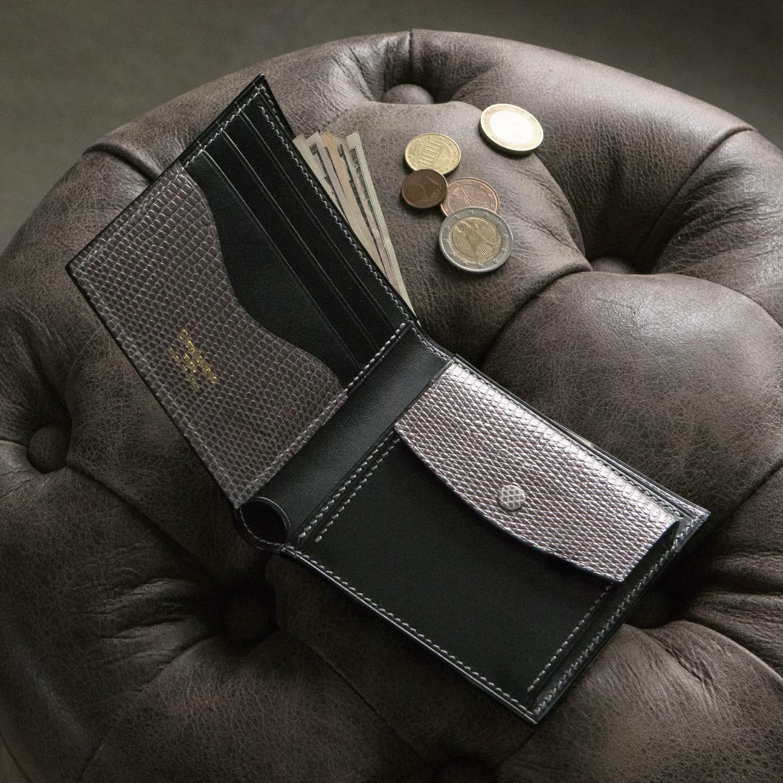 ブリランテ x リザード 二つ折り財布
