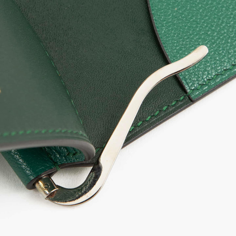 外装(シェーブル):Dark Green / 内装(国産牛革):Green / 内装装飾(シェーブル):Dark Green / 金具:Silver