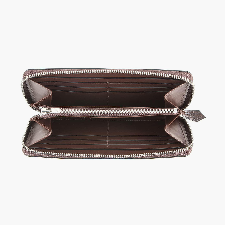 内装(ブリランテ):Dark Brown / 外装装飾・引き手(クロコダイル):Dark Brown / ファスナー:Silver