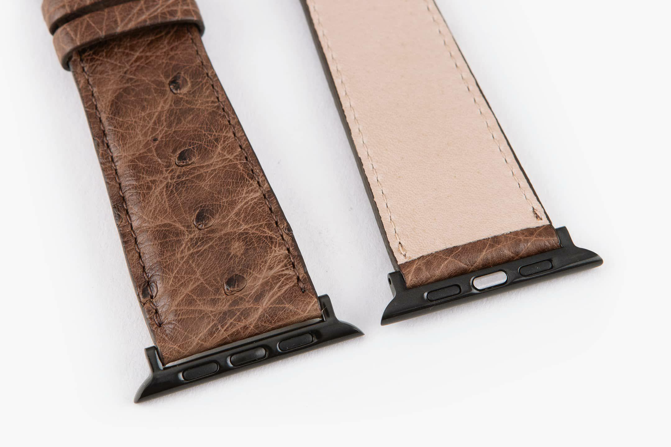 表面:Dark Brown / 裏面:ナチュラルカーフ / エンドピース&尾錠:Black