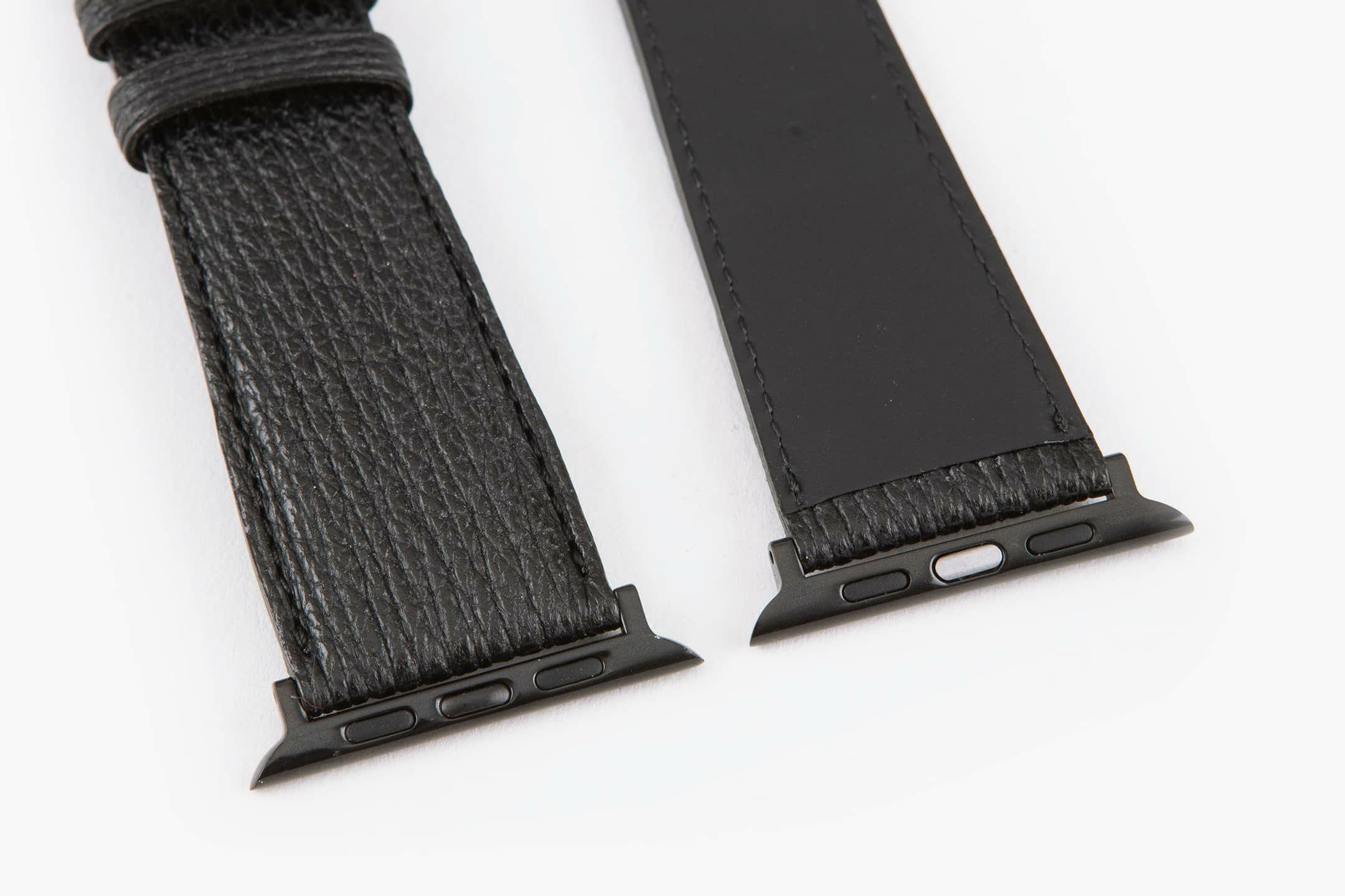 表面:Black / 裏面:ラバーカーフ / エンドピース&尾錠:Black